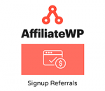 AffiliateWP Signup Referrals