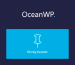 OceanWP Sticky Header
