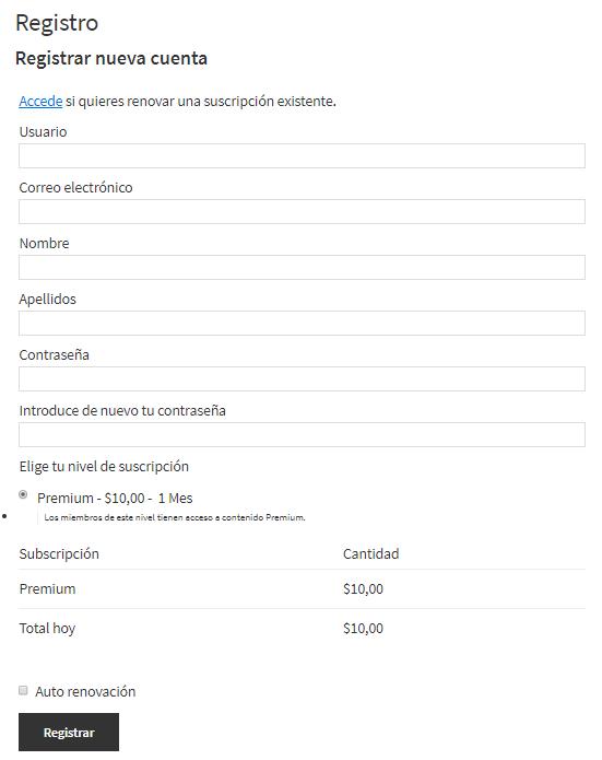 restrict-content-pro-registro